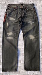 Rare Fenom 207 Selvedge Fragment Red Package Jeans 34 W And 32 L Crush