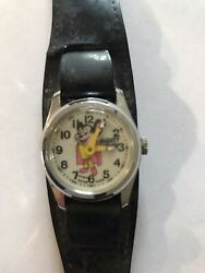 Vintage Mighty Mouse Swiss Made Watch Tiny Toons