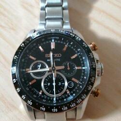 Seiko Brightz Chronograph Limited Edition Japan Automatic Mens Watch Auth Works
