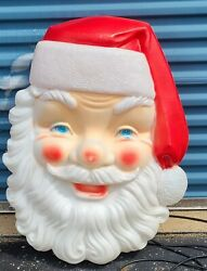 Vintage Empire Christmas Blow Molds Huge Santa Face 36 Inches Largest Model