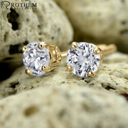 Andpound5750 Best Singles Day Sale 1.05 Ct Diamond Earrings Yellow Gold Vs2 52080991
