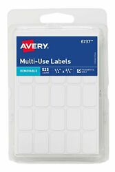 Avery Removable Labels Rectangular 0.5 X 0.75 Inches White Pack Of 525 6...