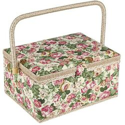 Large Sewing Basket With Accessories, Sewing Organizer Box For Sewing Supplie...