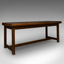 Antique Leather Cutter's Bench, Italian, Console, Side Table, Victorian, C.1900