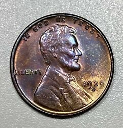 1929-s Lincoln Cent 1c Bu Wheat Penny