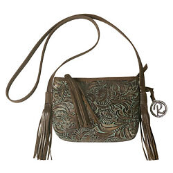Raviani Genuine Leather Crossbody Bag With Tassels Made In The Usa