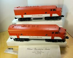 Williams Texas Special F-7 A-a Locomotives Dual Motor 4301 1984 Mth-transition