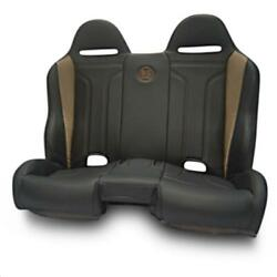 Bs Sand Pebecbdtr Performance Front/rear Bench Seat - Diamond - Black/red