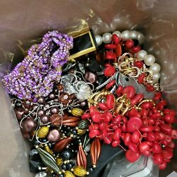 Antique And Vintage Jewelry, Parts And Broken Pieces Lot For Art Retro Craft Repair