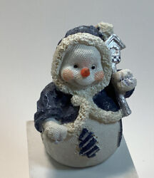 Snowman Figurine Cage Body 4.5 Inches Tall