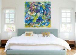 Modern Art Abstract Acrylic On Canvas Large Painting Wall Decorfree Evening
