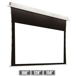 106 120 150 169 Motorized Projection Screen 4k Uhd Recessed Ceiling Mount