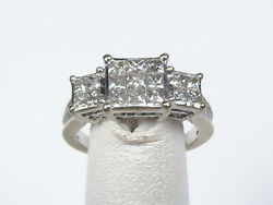 10kt White Gold Diamond Past Present Future Style Ring One C.t.w