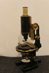 Carl Zeiss Jena Microscope Brass Antique Vintage Jughandle Stand Stativ