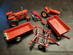 Tractor Plow Ertl Farmall International Usa Red Toy Machinery Plow Vintage Lot