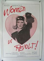 Women In Revolt 1971 Andy Warhol Linen Backed Poster Candy Darling Lgbt Gay 70and039