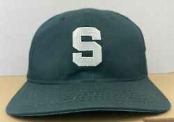 Vintage Msu Michigan State Snapback Hat Block Usa Made Spartans Small Sparty