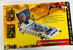 Marvel's Spider-man 2 Electronic Tabletop Pinball Lights And Sounds New