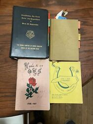 Lot Of Order Of The Eastern Star Books - Ritual Book Rules, Regulations +++
