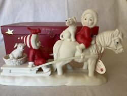 New In Box Dept. 56 Snowbabies On The Farm Iand039ll Lead You Follow Retired And Htf