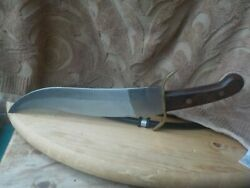 Vintage Bowie Survival Hunting Straight Blade Knife Excellent Sharp Brass Guard