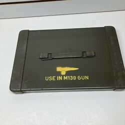 Nice Vintage Vietnam Era Linked Steel Ammo Box Cover Only For M139 Gun