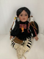 Timeless Collection Porcelain Native American Indian Girl Doll Limited 2024/2500