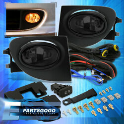 For 02-05 Honda Civic Si 3dr Jdm Smoked Bumper Fog Lights Lamps + Bulbs And Wiring