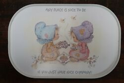 Vintage Betsy Clark Melamine Tea Tray A Clover Leaf Product Made In Uk 1970and039s