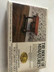 The House Of Miniatures Dollhouse Furniture Kit Duncan Phyfe Library Table
