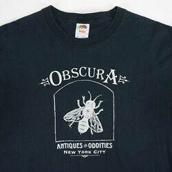 Obscura Antiques And Oddities Shop New York City Rare Official T-shirt Tee - Xl
