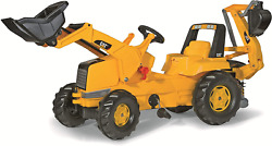 Rolly Toys Cat Construction Pedal Tractor Backhoe Loader Front Loader And Youth