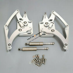 Hood Hinges Kit For Ford Mustang 1967-1969 2pcs High Quality Aluminum