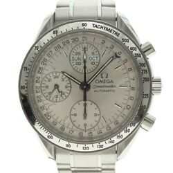 Wrist Watch Omega Speedmaster 3523.30 Menand039s Analog Silver Automatic Winding Used