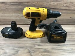 Dewalt Dc970k-18v 1/2 Cordless Compact Drill/driver With Battery Dw9116 Dc9098