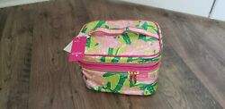 LILLY PULITZER Makeup Bag TRAVEL COSMETIC TRAIN CASE Target NEW $18.50