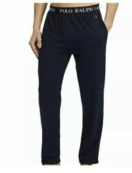 Polo Menand039s Navy Lightweight Cotton Pajama Pants 52 Big And Tall
