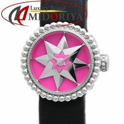 Christian Dior Pink Lacquer Cd040112a005 / 37628 Ladies Watch From Japan N1010