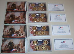 4 Sets 2007 2008 Us Mint Presidential 1 Coin Proof 4 Sets 16 Total Dollars