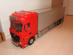 Tamiya 1/14 Scale Trailer Actros Truck Amp Servo With Transmitter Receiver Used