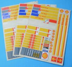Shell Service Station Signage Stickers Toy Model Shell Shop Car Wash Spa Ultra
