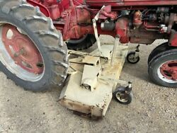 Farmall C Super C 200 230 Ih Tractor Woods L306 Belly Mower And Hitch And Step Plate
