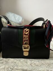 Gucci Sylvie Shoulder Bag Leather Small $1400.00
