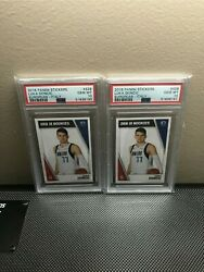 2018 Panini Stickers 428 Luka Doncic European Italy Rc Rookie Psa 10 2x Lot