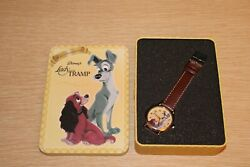 Disney Lady And The Tramp 50th Anniversary Quartz Watch And Collectible Tin Works