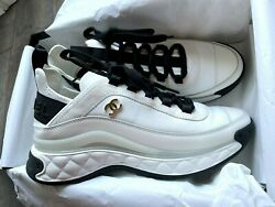 Nib Sneakers Velvet Calfskin And Mixed Fibers Us 7.5 Eur 37.5 Sold Out Cc