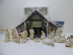 Lenox The Classic Nativity Set Complete 16 Pieces Christmas Holidays 1995