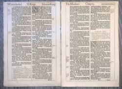 1611 1st Ed Folio And039king James Bibleand039 Six Consecutive Leaves From 2 Kings.