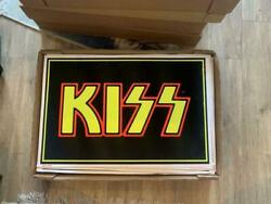 Rock Band Kiss Black Light Poster Vintage Super Rare Black Red Yellow From Japan