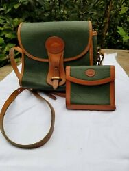 Vintage forest green Dooney and Bourke purse PLUS matching wallet coin purse $49.00